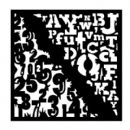"Woodware 6"" x 6"" Stencil Numbers & Letters"